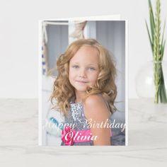 Custom Photo, Birthday card. Card 70th Birthday Card, Kids Birthday Cards, Birthday Greeting Cards, Custom Greeting Cards, Birthday Invitations, Birthday Gifts, Birthday Ideas, Surprise Birthday, Custom Postcards