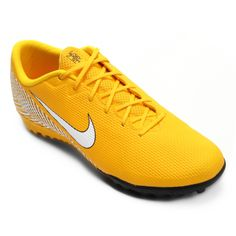 Chuteira Society Nike Mercurial Vapor 12 Academy Neymar TF - Amarelo e Preto  - Compre Agora 905b62cc929cd