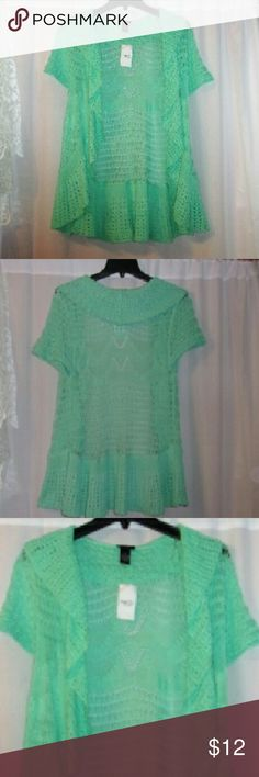 """Rue 21 crochet style open cardigan junior xl Length 28"""". Blend of cotton & acrylic.  Nwt. Has tons of stretch. Rue 21 Sweaters Shrugs & Ponchos"""