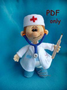 Doctor,knitting amigurumi,PDF pattern