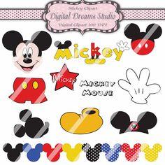 Mickey Mouse Clipart  18 Digital Files  buy by DigitalDreamsStudio, $5.25
