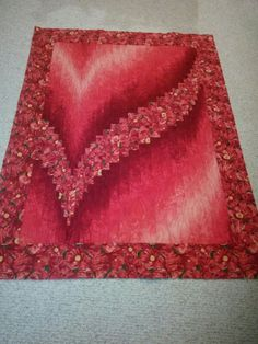 Red Two Fabric Bargello, Fabrics available at Quilts Bayou