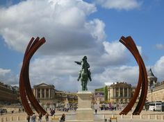 Chateau de Versailles, Versailles Picture: Entry plaza and Louis 14 state with modern sculpture, Versailles  - Check out TripAdvisor members' 25,002 candid photos and videos.