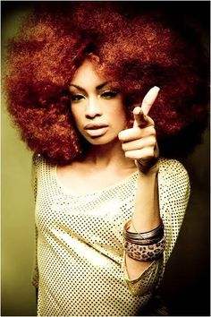 Red Afro natural hair This is super duper fly ! Natural Hair Journey, Natural Hair Care, Natural Hair Styles, Natural Beauty, Big Hair Dont Care, Pelo Afro, Pelo Natural, Natural Hair Inspiration, African American Hairstyles
