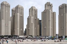 Among the world's most incredible architectural photographs on display is JBR Beachside, Dubai, UAE, by Ieva Saudargaite.
