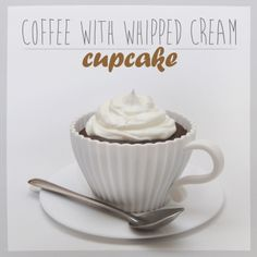Coffee with whipped cream cupcakes #coffee #whippedcream #cupcakes