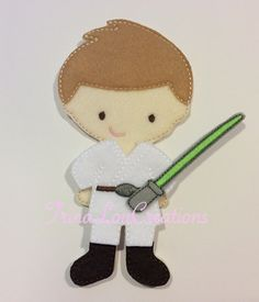 non paper doll Luke Skywalker Star wars by TrinaLouCreations, $12.99
