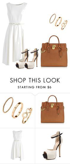 """Sem título #8"" by marcelly-bonin-montan ❤ liked on Polyvore featuring H&M, Michael Kors and Chicwish"