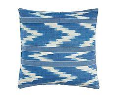 Cojín de algodón Bagur, azul - 60x60 cm