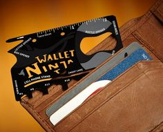 Credit card multi tool   http://www.wicked-gadgets.com/credit-card-multi-tool/  #clever #gadgets #camping #tool