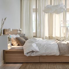"Bett Malm Ikea Best Of Bett ""malm"" Von Ikea Bild 12 [living at Home] Cama Ikea, Bed Ikea, Oak Bedroom, Bedroom Wall, Bedroom Decor, Bedroom Ideas, Bedroom Curtains, Ikea Bedroom Sets, Bedroom Furniture"