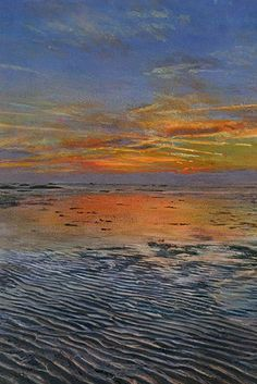 Herne Bay Sunset - a painting of the north Kent coast - Glen Smith artist inspired by coast and countrysideGlen Smith artist inspired by coast and countryside
