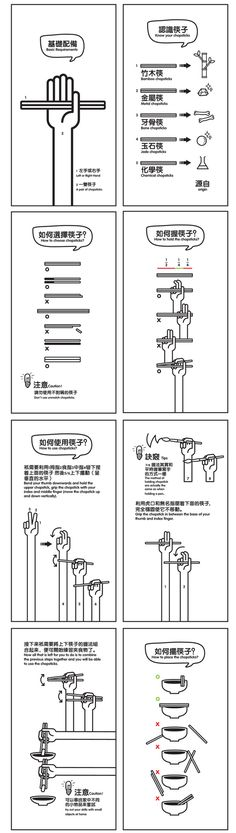Master of Chopsticks by Yong Wen Yeu via theworldofchinese: Dos and Don'ts. #Infographic #Chopsticks