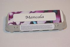 how to make a mancala board out of paper