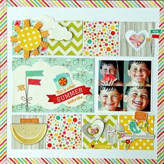 This is what summer looks like! - Scrapbook.com - Made with Echo Park products.