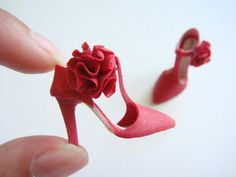 Handmade Miniature Shoes Polymer Clay by YinyingO on Etsy