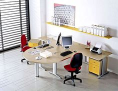 Compact office furniture set for minimalist office decorating ideas