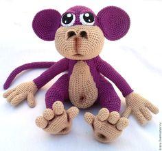 Вязаная обезьянка Чикита. Handmade.