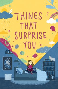"""A Book Jaket designed for a middle grade novel titled """"Things That Surprised You"""", written by Jennifer Maschari and published by HarperCollins."""
