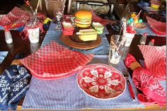 Casual Place Setting-Burger Theme
