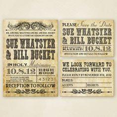 Western Wedding Invitation Set  PRINTABLE. $25.00, via Etsy.