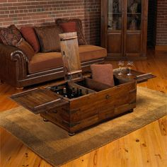 Buy the Handmade Vintage Oak Whiskey Barrel Coffee Table at Wine Enthusiast – we are your ultimate destination for wine storage, wine accessories, gifts and more! Whiskey Barrel Coffee Table, Cool Coffee Tables, Coffee Table Storage, Storage Trunk, Wine Storage, Extra Storage, Whiskey Room, End Tables With Drawers, Living Room End Tables