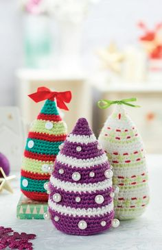 Free pattern: Crochet Christmas trees
