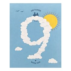Is there someone that makes you feel like you're on cloud nine when you're with them?  Let them know how special they are with this card.