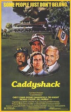 A great movie poster from the classic golf comedy Caddyshack! Starring Chevy Chase, Bill Murray, and Rodney Dangerfield. Need Poster Mounts. 1970s Movies, Comedy Movies, Vintage Movies, Indie Movies, Watch Movies, Top Comedies, Classic Comedies, Chevy Chase, It Movie Cast