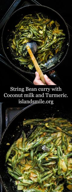30 minute I sri lankan I vefetarian I vegan I low carb I gluten free I healthy. String bean curry with Turmeric and Coconut milk(Sri Lankan). A not so spicy side dish that includes a few healthy ingredients as well.