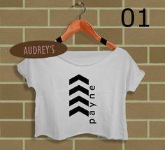 1d one direction shirt Liam Payne tattoos women crop top crop tee ...