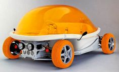 André Courrèges' wife Coqueline designed this all electric car, the Zooop in 2006.
