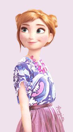 Teenybopper Disney Makeovers - Blogger Punziella Turns Disney Princesses into High School Students