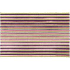 Couristan Bar Harbor Fruit Punch Striped Reversible Cotton Rug, Multicolor