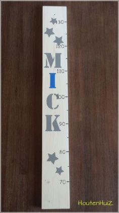 Groeimeter whitewash met naam