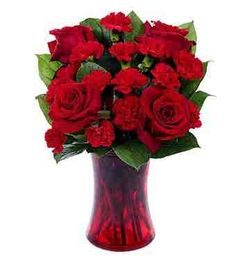 You're In My Heart at From You Flowers Cheap Flowers, Flowers For You, Red Flowers, Valentine Bouquet, Valentines Flowers, May Birth Flowers, Discount Flowers, Mini Carnations, Red Carnation