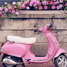 #LapoElkann Lapo Elkann: Pink can be so gracious specially on a Vespa .#italiansdoitbetter @vespa @garageitaliacustoms #❤️vespa