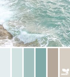55 ideas for bathroom colors blue sea design seeds Bedroom Paint Colors, Paint Colors For Living Room, Interior Paint Colors, Paint Colors For Home, Bathroom Colors, Beach Paint Colors, Bathroom Ideas, Interior Design Color Schemes, Bathroom Beach