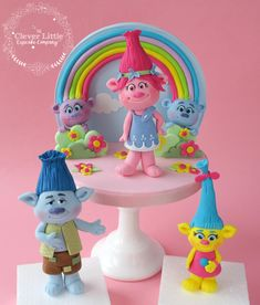 Trolls Toppers by The Clever Little Cupcake Company