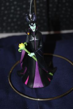 Disney's Malificent Figurine Ornament   Free by HobbyHaven on Etsy, $14.50