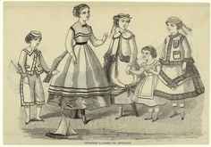 Old Rags : PhotoClothing for children and teens, 1867 US, Peterson's Magazine