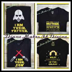 8d2c0b90 Star Wars Family T-shirts A set of Star Wars shirts for the whole family