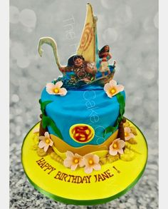 Vaiana et Maui 3 Maui, Birthday Cake, Lily, Desserts, Food, Tailgate Desserts, Deserts, Birthday Cakes, Essen