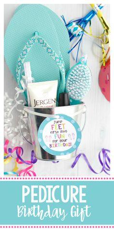Pedicure Gift Basket Birthday