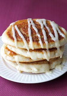 Delicious Apple Cinnamon Roll Pancake recipe from A Dash Of Tash. Great for a morning treat!