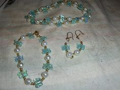 """""""Lt. Aqua Butterflies"""" 3 piece set ---  LIMITED QUANTITY --- $5.00 + $3.00 shipping in the USA"""