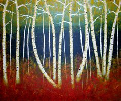 Autumn Night Acrylic on canvas Staging, Pear, That Look, Autumn, Canvas, Night, Prints, Pictures, Blue