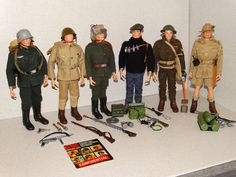Hasbro GI Joe Vintage 1966 SOTW GERMAN JAPANESE RUSSIAN FRENCH BRITISH AUSSIE!