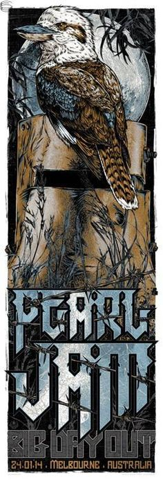 Pearl Jam #gigposter by Rhys Cooper.