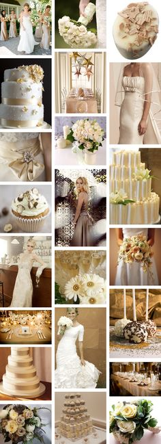 soft brown and champagne wedding theme